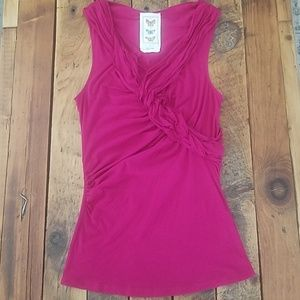 Anthropologie Butterfly Magenta Tank Top